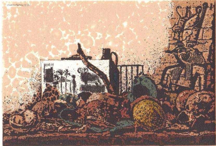 250. Egyptisch stilleven met ram-ets