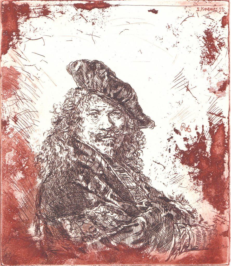 Zelfportret met baret (groot)