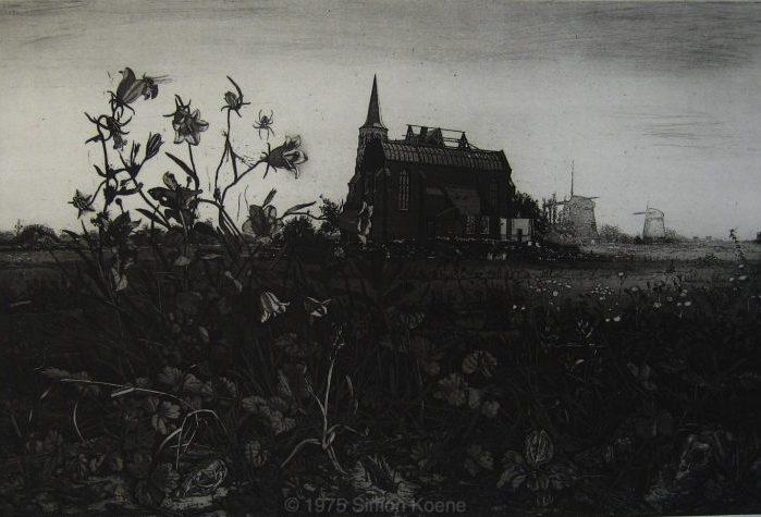 75. Hollands landschap met grasklokje