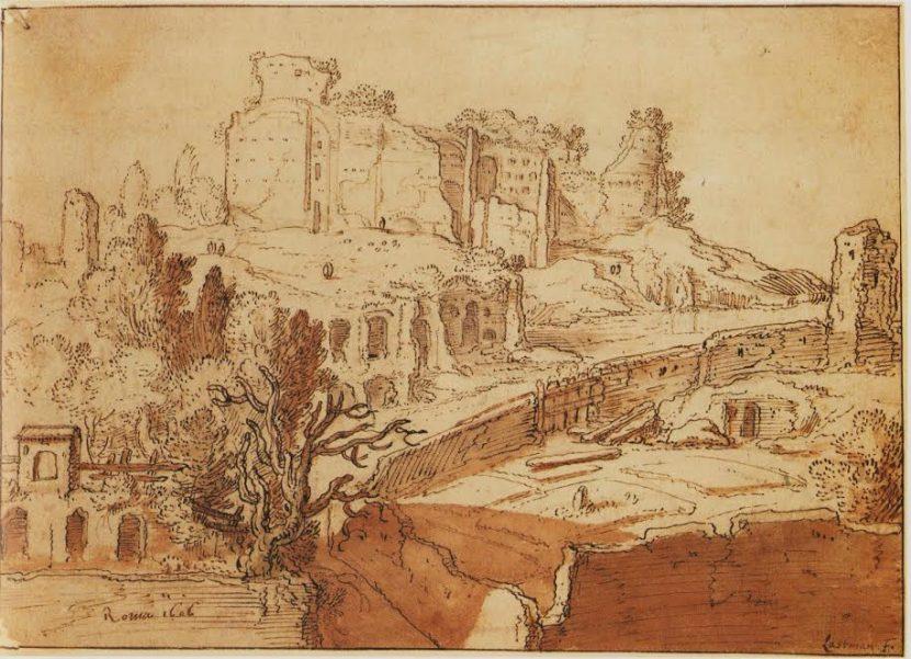 Pieter Lastman, Gezicht op de Palatijn in Rome