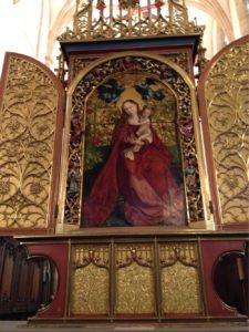 Martin Schongauer, 'Die Madonna im Rosenhag'