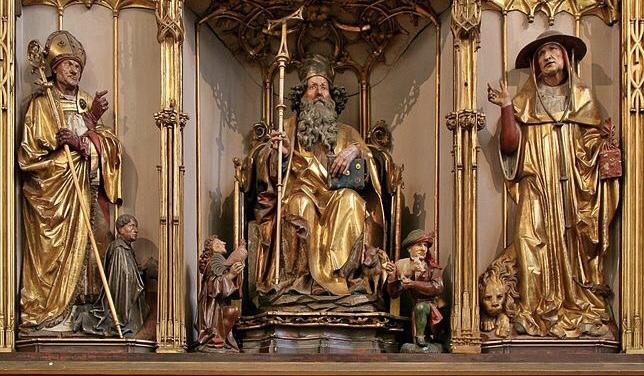 Nikolaus Hagenauer, Interieur van het 'Isenheim Altar' (c. 1500).