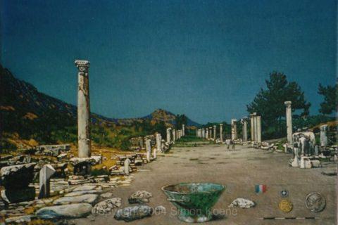 67. Opgraving in Ephese met bronzen schaal